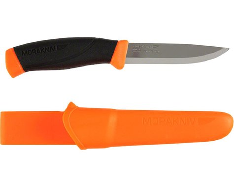 Morakniv Companion Fixed Blade Knife: Orange/Black