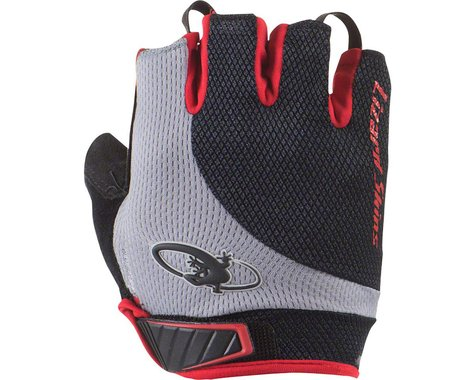 Lizard Skins Aramus Elite Short Finger Gloves (Jet Black/Crimson)