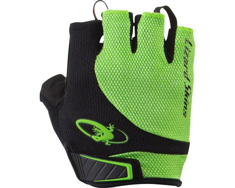 Lizard Skins Aramus Elite Short Finger Gloves (Jet Black/Green) (S)