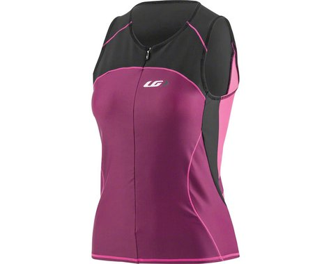 Louis Garneau Women's Comp Sleeveless Jersey (Black/Magenta Purple/Pink Glow) (L)