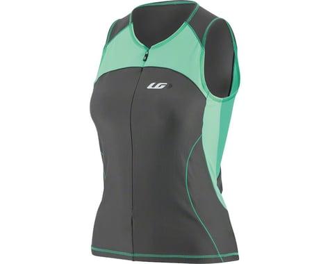 Louis Garneau Women's Comp Sleeveless Jersey  (Black/Green) (M)