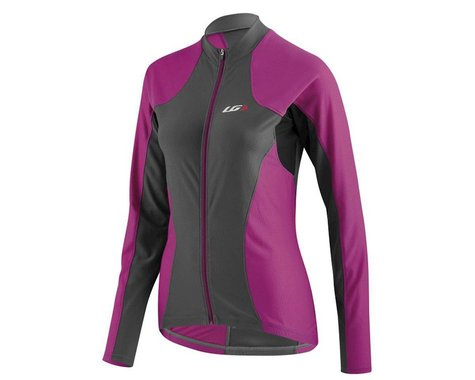 Louis Garneau Women's Ventila Long Sleeve Jersey (Purple/Gray)