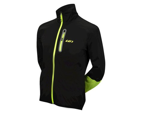 Louis Garneau Torrent RTR Jacket (Matte Black/High Vis Yellow) (L)
