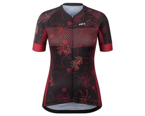Louis Garneau Women's District Jersey (Black Flower) (2XL)
