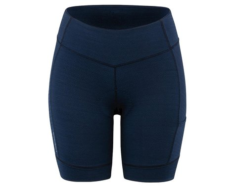 Louis Garneau Women's Fit Sensor Texture 7.5 Shorts (Dark Night) (2XL)