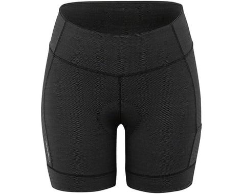 Louis Garneau Women's Fit Sensor Texture 5.5 Shorts (Black) (L)