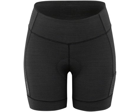 Louis Garneau Women's Fit Sensor Texture 5.5 Shorts (Black) (2XL)