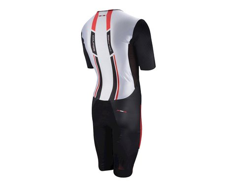 Louis Garneau Course M-2 Triathlon Skin Suit (White/Red/Black) (Xxlarge)