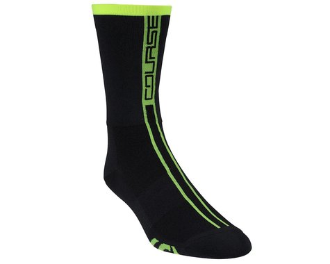 Louis Garneau Course Socks (Matte Black/Yellow)