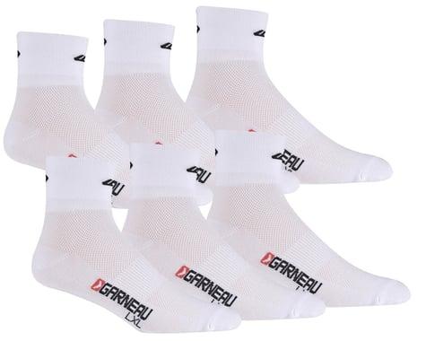 Louis Garneau Low Versis Socks (White) (3 Pairs)