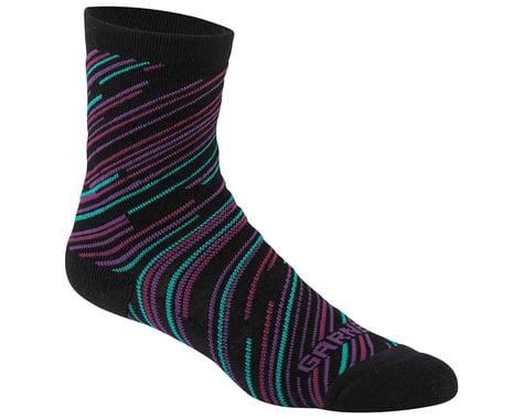 Louis Garneau Women's Merino 60 Socks (Black/Cricket) (L/XL)