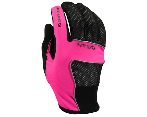 Louis Garneau Women's Wind Tex Eco Flex Gloves -- Performance Exclusive (Black/Pink)