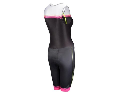 Louis Garneau Women's Tri Course Club Triathlon Suit (Black/Pink)