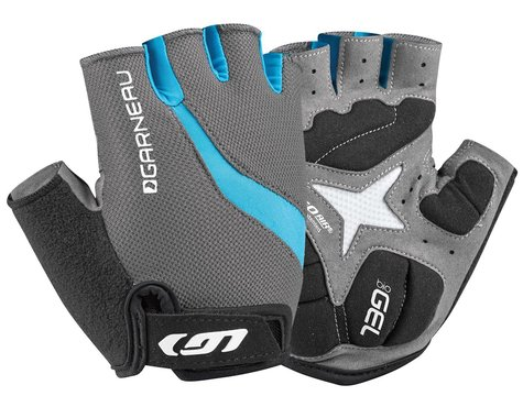 Louis Garneau Women's Biogel RX-V Gloves (Charcoal/Blue) (S)