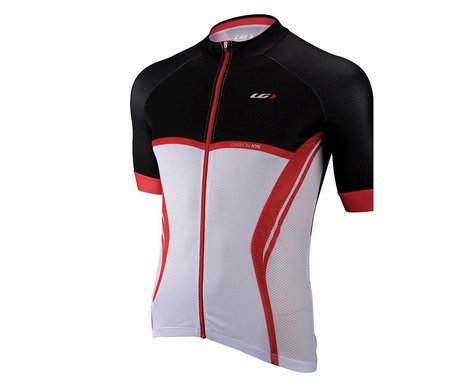 Louis Garneau Elite Carbon Short Sleeve Jersey (Red/White/Black)