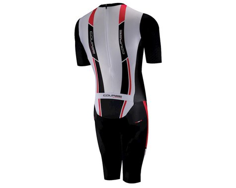Louis Garneau Course M-2 Bodysuit Skinsuit (Black/Red) (Xxlarge)