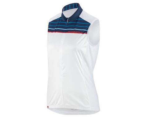 Louis Garneau Women's Zircon Sleeveless Jersey (White/Blue) (XS)