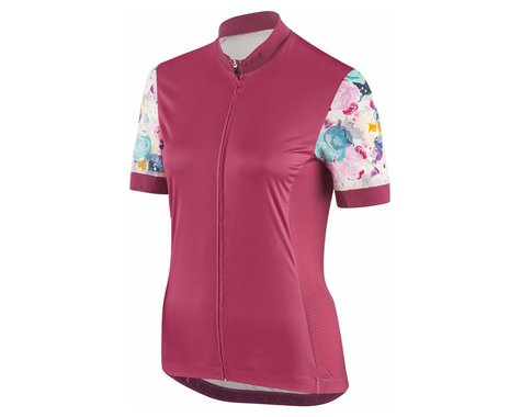 Louis Garneau Women's Art Factory Jersey (Shiraz/Multi) (XS)