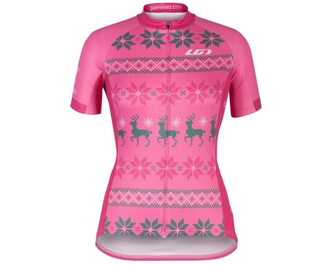 Louis Garneau Women's Holiday Ugly Jersey (Pink) (S)