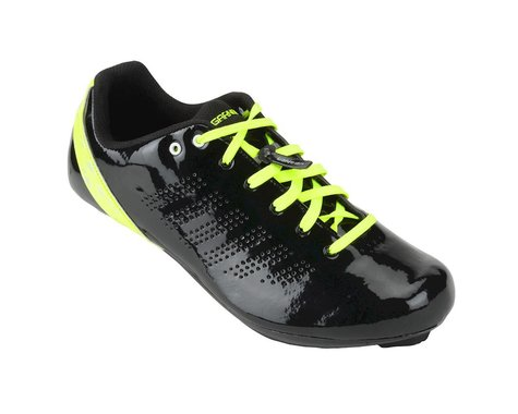 Louis Garneau Milan Road Shoes - Performance Exclusive (Matte Black/High Vis) (48)