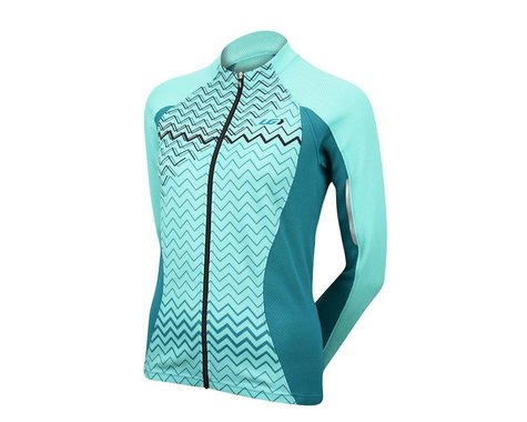 Louis Garneau Women's Tirreno2 Thermal Jersey - Performance Exclusive (Mint) (Large)