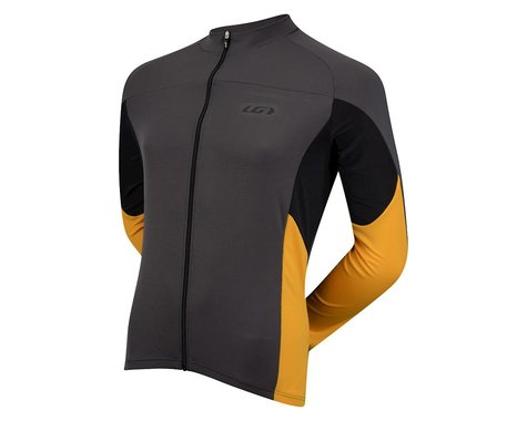 Louis Garneau Volta Pro Long Sleeve Jersey - Performance Exclusive (Grey/Yellow) (Xlarge)