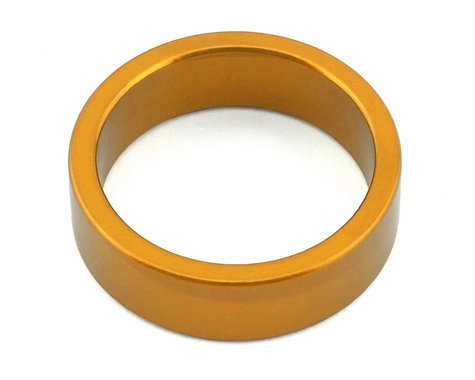 "MCS Aluminum Headset Spacer (1-1/8"") (Gold) (10mm)"