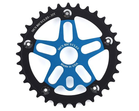 MCS Alloy Spider & Chainring Combo (Blue/Black) (33T)