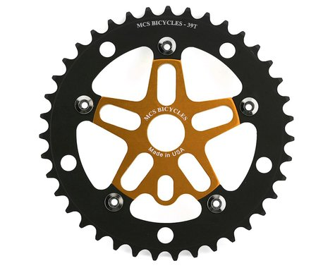 MCS Alloy Spider & Chainring Combo (39T) (Gold/Black)