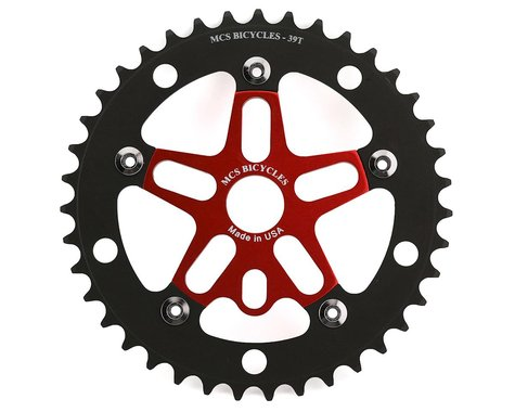 MCS Alloy Spider & Chainring Combo (39T) (Red/Black)