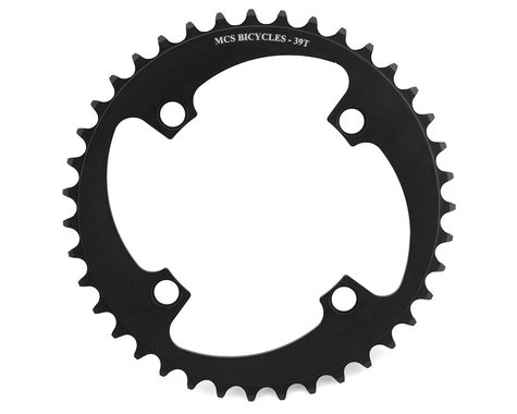MCS 4-Bolt Chainring (Black) (39T)