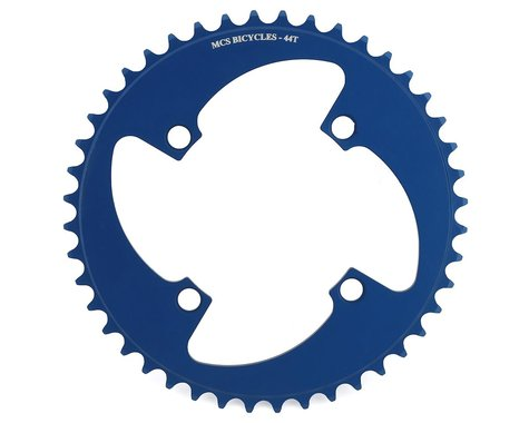 MCS 4-Bolt Chainring (Blue) (44T)