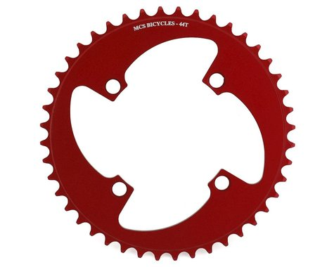 MCS 4-Bolt Chainring (Red) (44T)