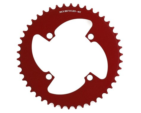 MCS 4-Bolt Chainring (Red) (46T)