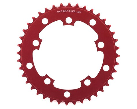 MCS 5-Bolt Chainring (Red) (40T)