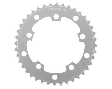 MCS 5-Bolt Chainring (Silver) (40T)