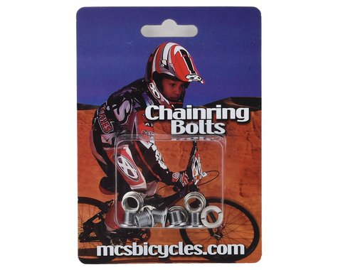MCS Steel Chainring Bolts (Chrome)