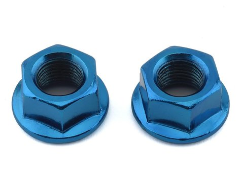 """MCS Hub Axle Nuts (3/8"""") (10mm) (ED Blue) (Pair)"""