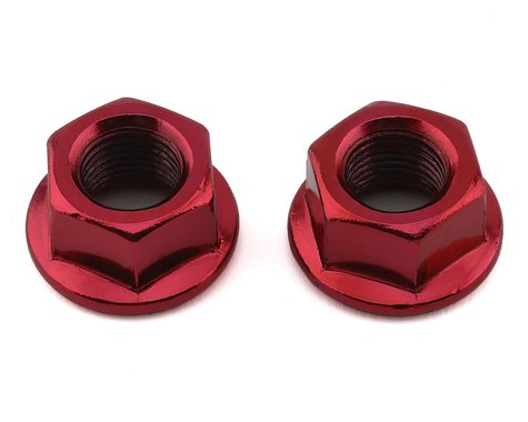 "MCS Hub Axle Nuts (3/8"") (10mm) (ED Red) (Pair)"