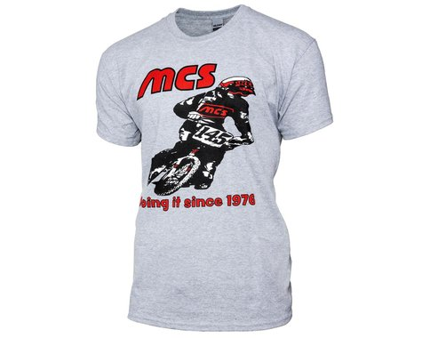 MCS Retro 1976 Short Sleeve T-Shirt (Grey) (2XL)