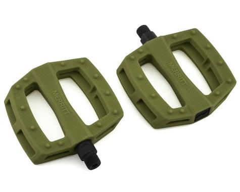 "Merritt P1 PC Pedals (Military Green) (9/16"")"