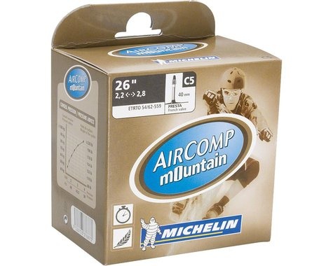 Michelin AirComp Mountain Presta Valve Tube (26 x 2.1-2.5)