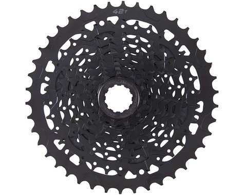 Microshift Advent 9-Speed Cassette w/ Alloy Large Cog (Black) (11-42T)