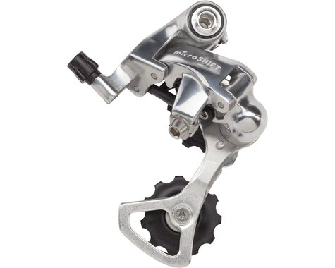 Microshift R10 Road Rear Derailleur (Silver) (10 Speed) (Short Cage)