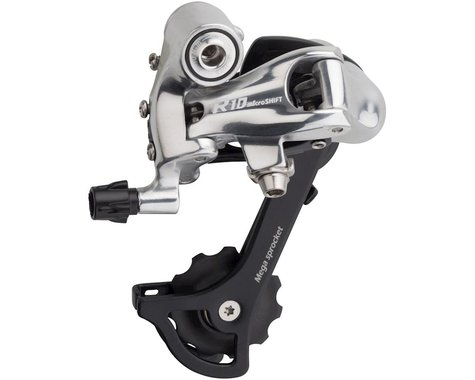 Microshift R10 Road Rear Derailleur (Black/Silver) (10 Speed) (Medium Cage)
