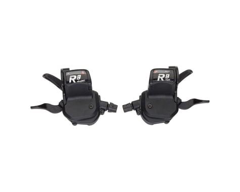 Microshift R8 Flat Bar Road Trigger Shifter Set (Black)