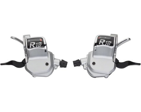 Microshift R10 Road Flat Bar Trigger Shifter Set (Silver)