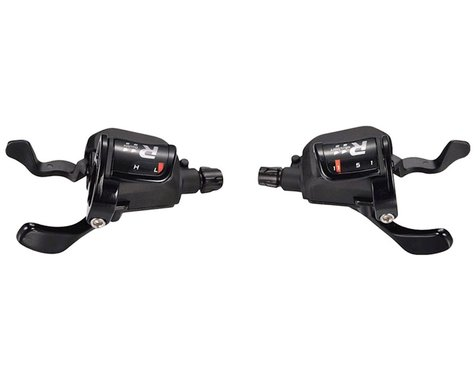 Microshift R11 Road Flat Bar Trigger Shifter Set (Black)