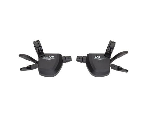 Microshift R9 Flat Bar Road Shifter Set (Black)