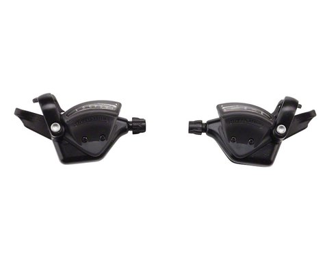 Microshift TS51 Thumb-Tap Trigger Shifter Set (Black)